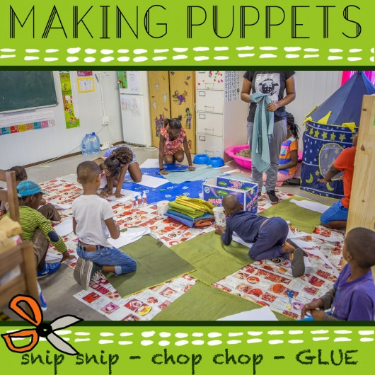 Puppet Making with the SOS Africa Children in Somerset West