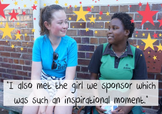 The moment when Kristyna met the girl she sponsors for the first time