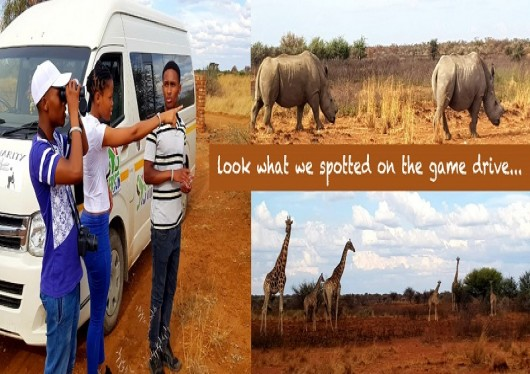 The SOS Africa Children Visit Mahikeng Game Reserve to see the Rhinos