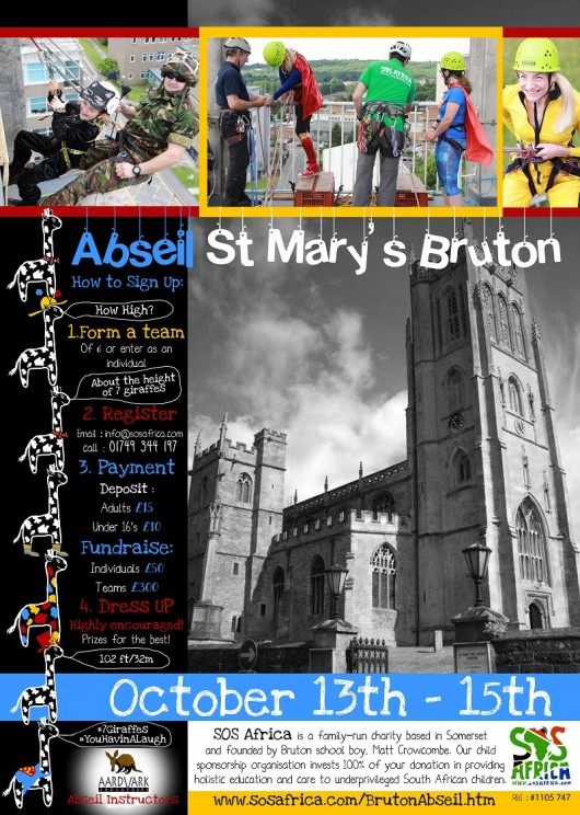 St Mary's, Bruton 100ft Charity Abseil