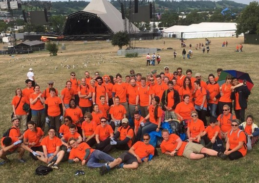 SOS Africa Charity Glastonbury Festival Litter Picking Volunteers Keep the Pyramid Stage Clean and Secure 33 Years of School Tuition!