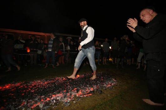 35 Fearless Fundraisers Walk on Fire for the SOS Africa Charity Children