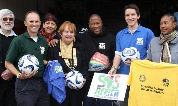 SOS Africa and Rotary Launch their 2010 South Africa World Cup Project