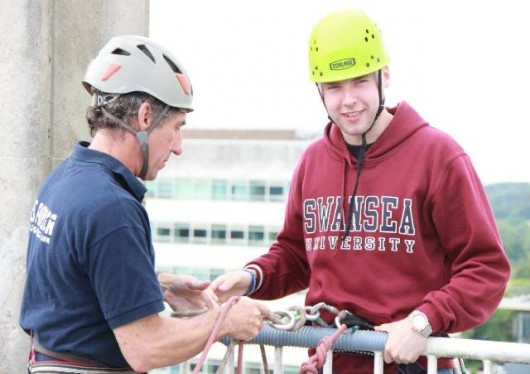 Swansea University Abseilers Raise £10,000 for African Education Charities