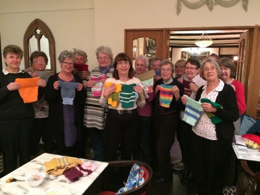 SOS Africa Charity to Distribute Chip Shop Baby Jumpers Created by Shepton Mallet Sewing Group, Knit & Chat