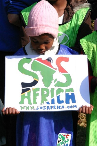 A young girl supported by the SOS Africa / Hyundai 2010 South Africa Football World Cup Charity Project