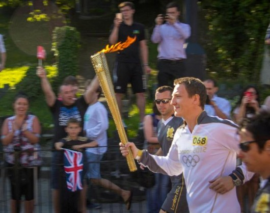 Carrying the Olympic Flame for SOS Africa - an experience I will never forget, by Matthew Davies