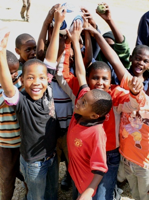 South African Township Children supported by the SOS Africa / Hyundai 2010 Football World Cup Charity Project