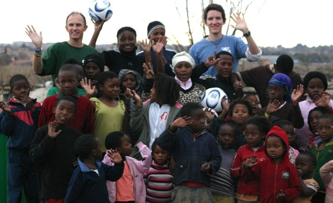 Children supported by the SOS Africa / Hyundai 2010 South Africa Football World Cup Charity Project