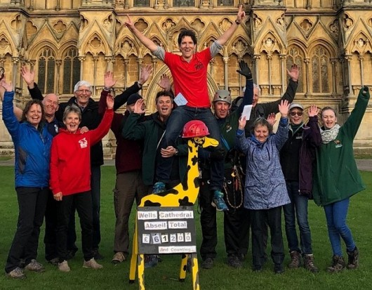 350 Complete SOS Africa Wells Cathedral Abseil Challenge and Break Charity Fundraising Record