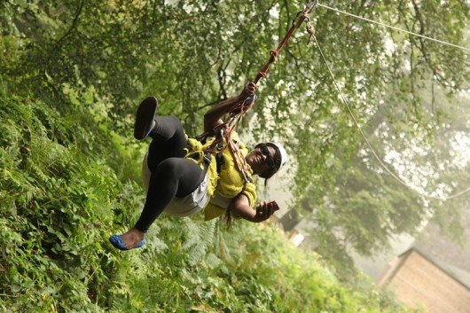 300 Conquer Cranmore Tower Zip Wire Challenge for SOS Africa!