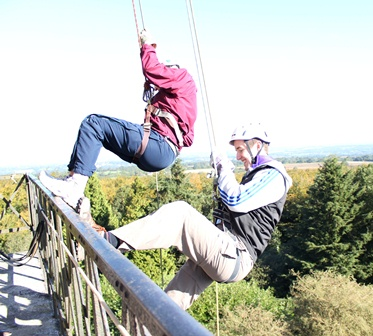 Shepton Mallet Rotary Club and Inner Wheel Group raised and incredible £1400 at SOS Africa's Cranmore Tower Abseil Event