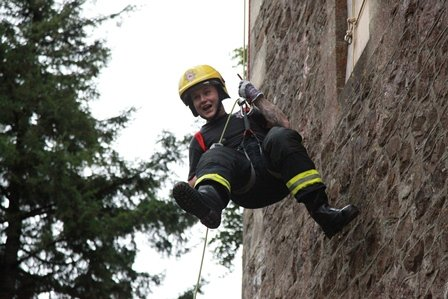 Fireman from Frome and Wells Fire Station also entered teams
