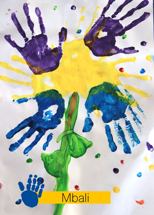 SOS Africa Charity Children's Blog - Finger Painting Fun
