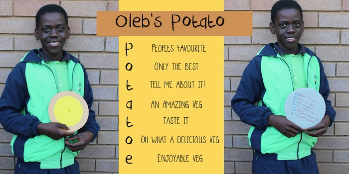 SOS Africa Charity Children's Blog - Children's Fruit and Vegetable Craft Project - Oleb's Potato