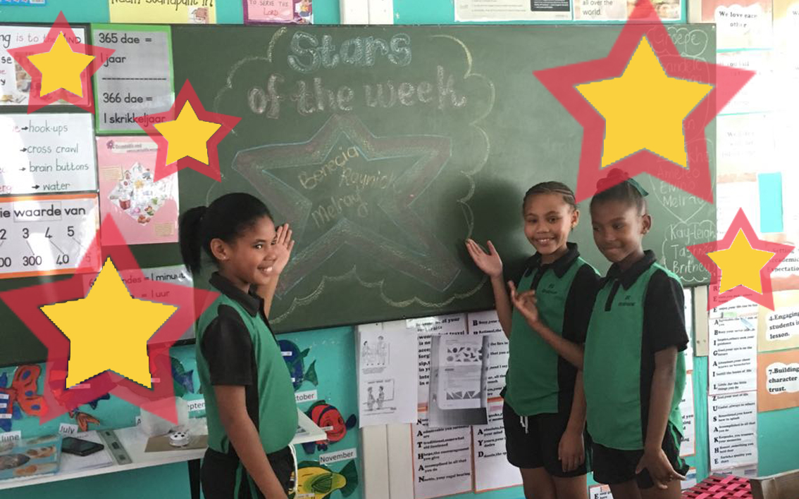 "Children's Charity Blog - The SOS Africa staff and children celebrate the ""stars of the week"""