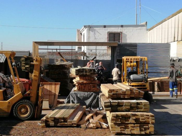 Timber Preparation for SOS Africa's Education Centre Building Project at Melkbos Sawmill, Western Cape, South Africa