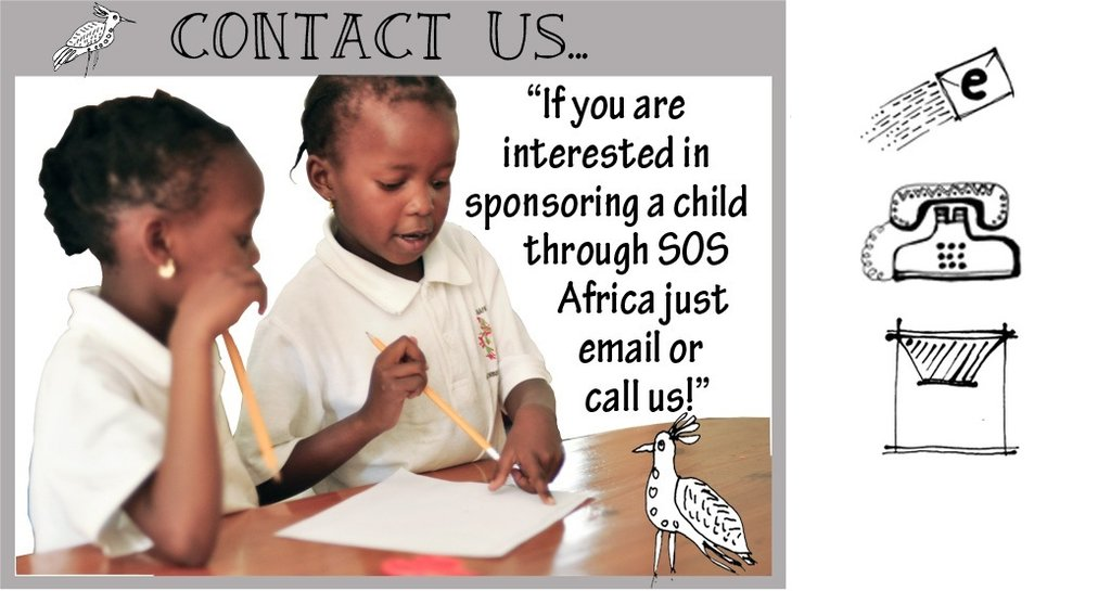 Contact the SOS Africa Charity about Sponsoring a child in Africa...