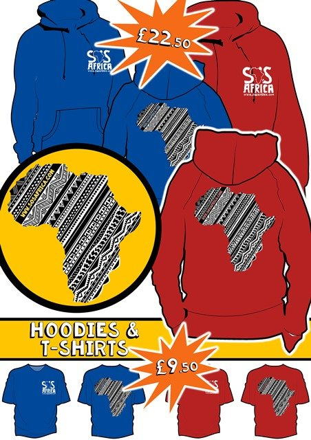 SOS Africa Charity Hoodies and Tshirts