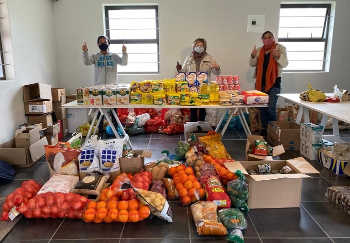 Food and supplies provided by SOS Africa's Coronavirus Emergency Food Appeal to Soup Kitchens in the Western Cape, South Africa