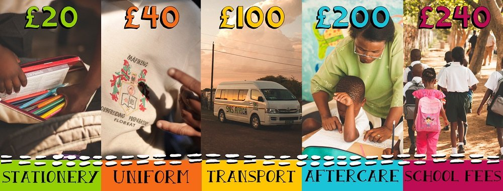 The impact a small donation to the SOS Africa Charity will make