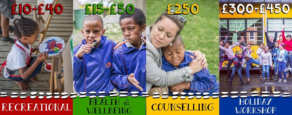 Additional child services and support provided by the SOS Africa Charity
