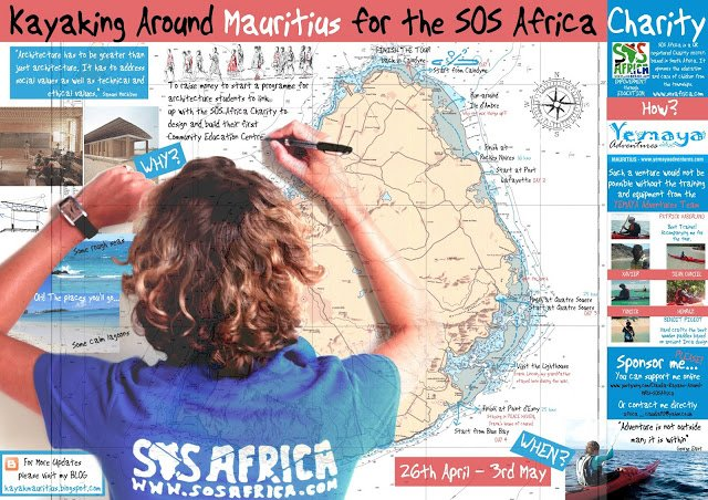 Kayaking around Mauritius for SOS Africa