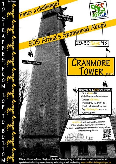 SOS Africa's Cranmore Tower Abseil Event Poster