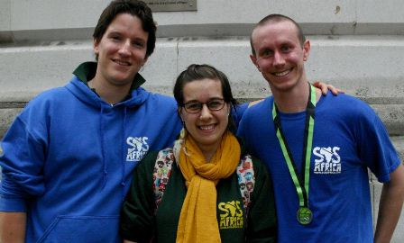 Mark with SOS Africa co-founder Matt, and SOS Africa fundraiser Tan at the London 10k