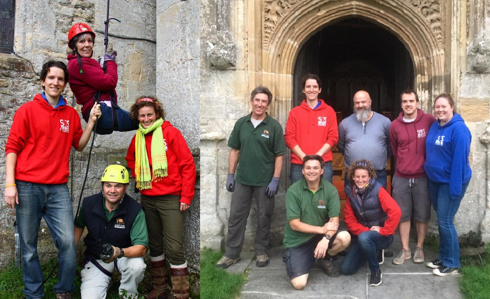 Events organisers from SOS Africa, Aardvark Endeavours and St Mary's Church Bruton