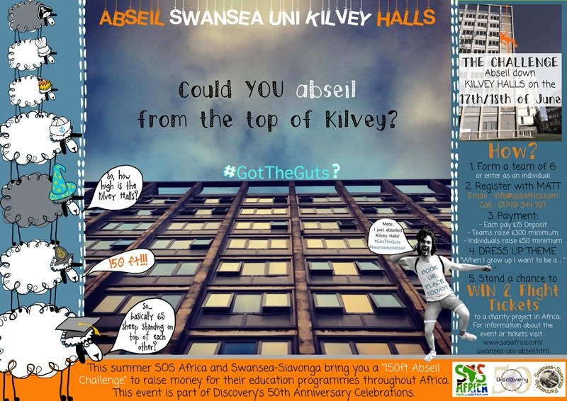 Swansea University Charity Abseil Fundraising Event