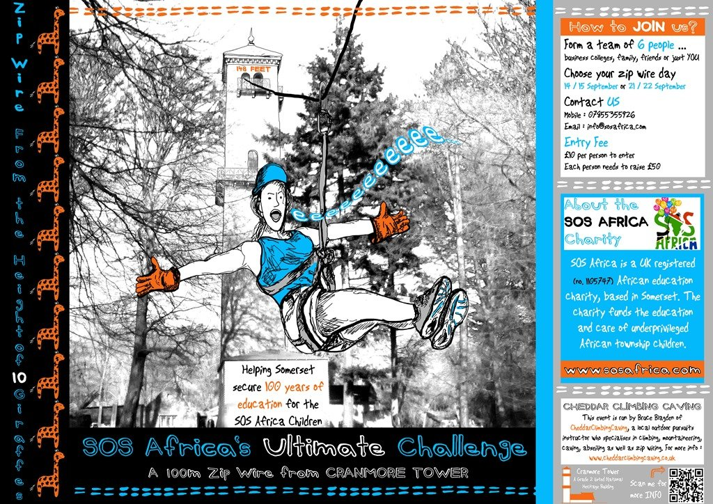 SOS Africa's upcoming Cranmore Tower Zip Wire Fundraising Event...