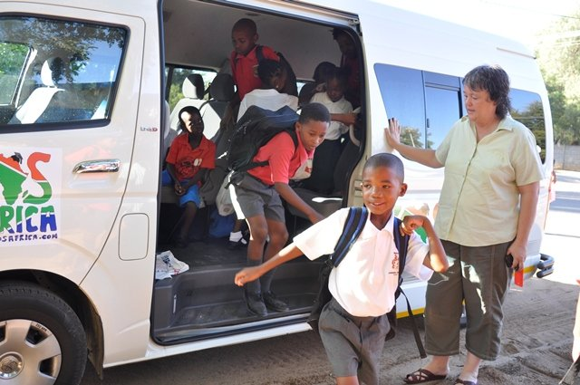 The SOS Africa children's new ride to school