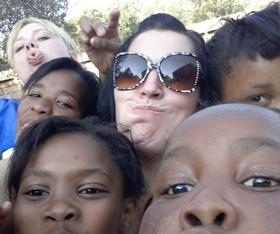 Kelly with the SOS Africa Children