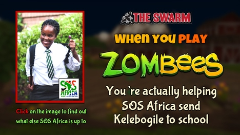 Bee The Swarm Online Gaming Funds SOS Africa Child's Education