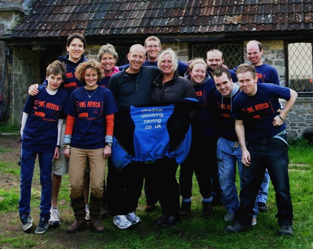 Bruce and Frankie with the SOS Africa volunteers following our Cranmore Tower Abseil Event
