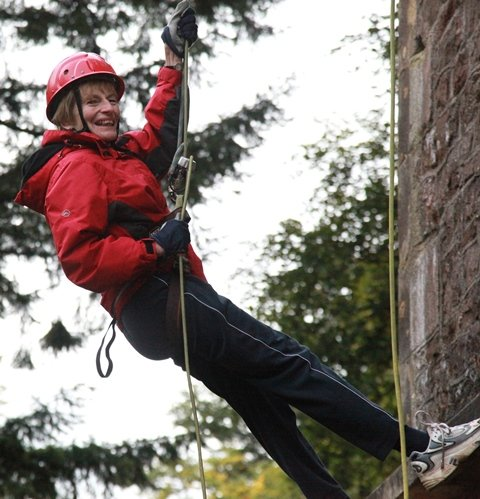 The Wells Cathedral Headmistress was the first to abseil down Cranmore Tower