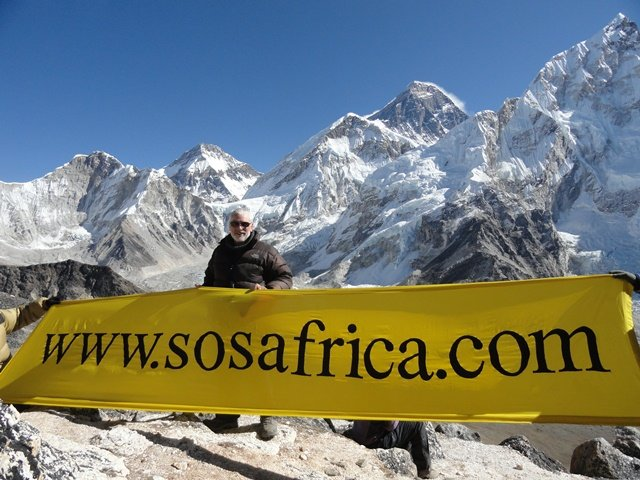 Climbing Mount Everest for SOS Africa