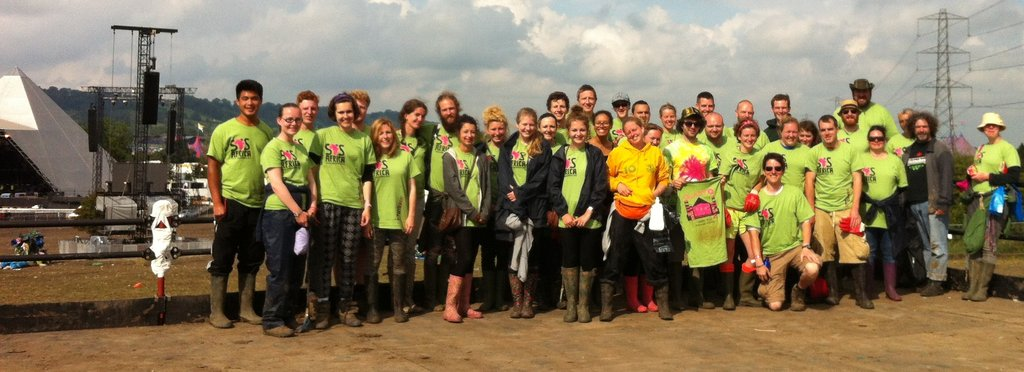 SOS Africa's Glastonbury Festival Litter Picking Team