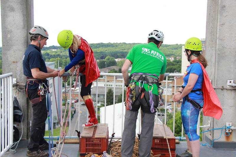 120 brave individuals took on our 150ft abseil challenge from the top of Swansea University's Kilvey Halls of Residence in June 2015