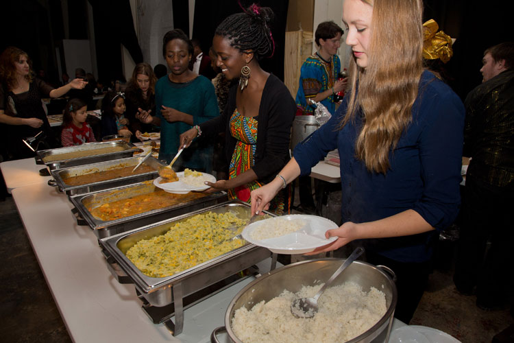 Delicious African food cooked by Sarah Hillman