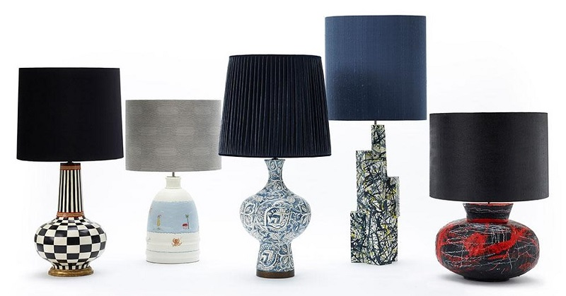 Porta Romana Auctions Lamps Created by Five Leading Artists & Designers for SOS Africa Charity