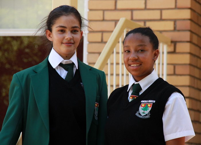 SOS Africa's Tashnee and Kay-Leigh start at Grabouw High School