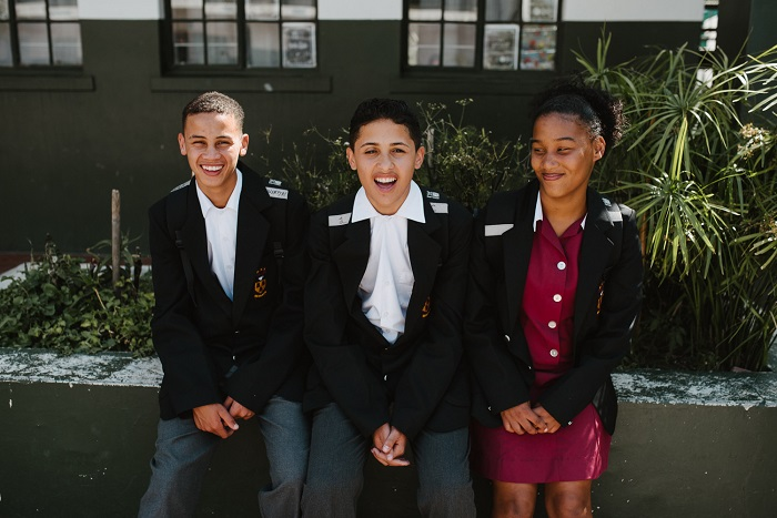 SOS Africa's Quentin, Laytham and Kim started at Hottentots Holland High School