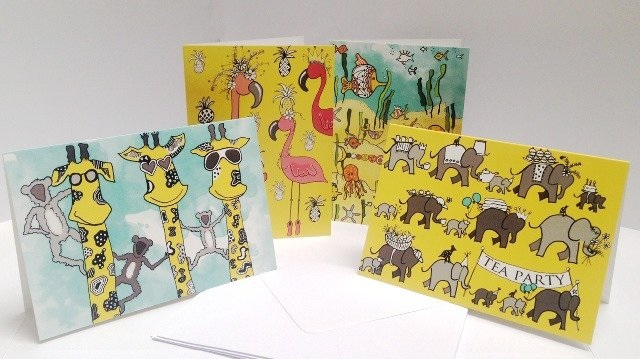 SOS Africa Charity Greeting Cards in Colour