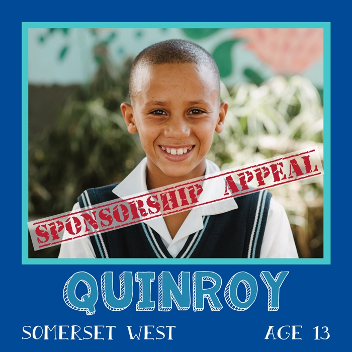 Sponsor a child in Africa - Quinroy, Age 13, Somerset West