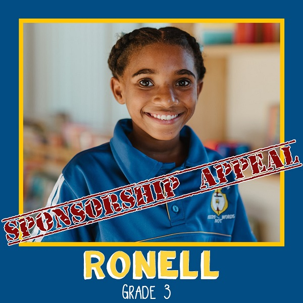 African children awaiting sponsorship: Ronell