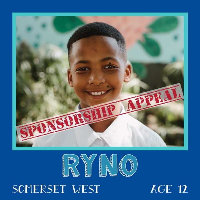 Sponsor a child in Africa - Ryno, Age 12, Somerset West
