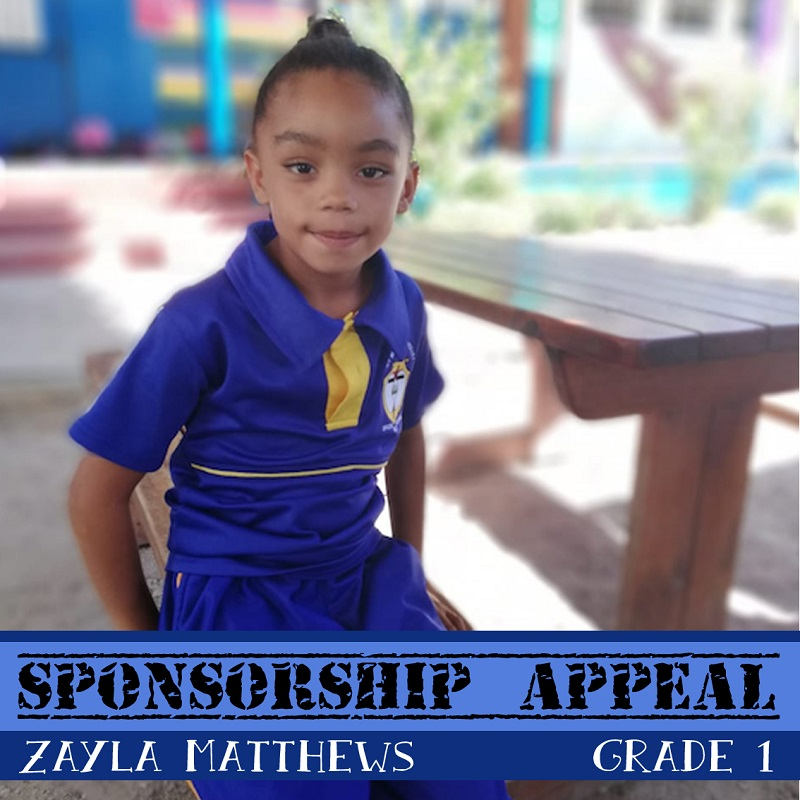 African children awaiting sponsorship: Zayla