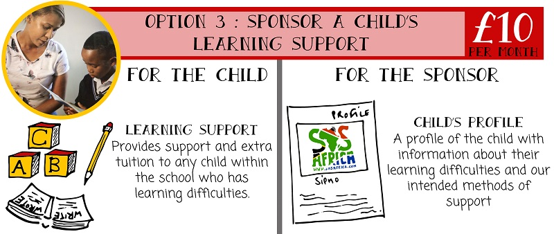SOS Africa | Sponsor learning support for a Dyslexic child in Africa